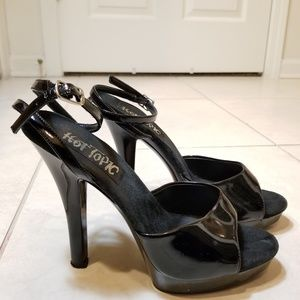 Hot Topic Shoes - Hot Topic Black Platform Stiletto Heels 5""